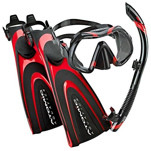 シュノーケリング マリンスポーツ 【送料無料】Atomic Aquatics Scuba Blade Fin, Venom Dive Mask, SV2 Snorkel Scuba Gear Packageシュノーケリング マリンスポーツ
