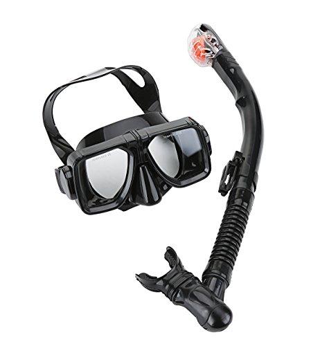 シュノーケリング マリンスポーツ 【送料無料】Cpsports Scuba Diving Snorkeling Freediving Mask Snorkel Set for Adult (black)シュノーケリング マリンスポーツ