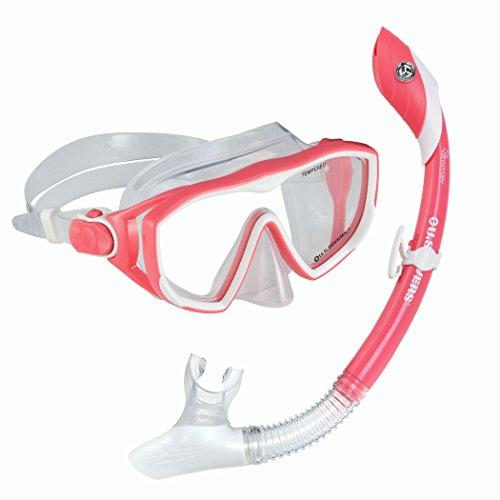 シュノーケリング マリンスポーツ 261208 U.S. Divers Diva 1 Lx/Island Dry Adult Silicone Mask Combo, Coralシュノーケリング マリンスポーツ 261208