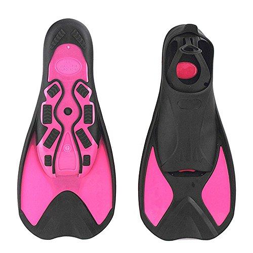 シュノーケリング マリンスポーツ A Point Children's Diving Light Short Fins Swimming Snorkeling Frog Shoes Multifunction Flippers (Pink, XXS(1-2) 22cm)シュノーケリング マリンスポーツ