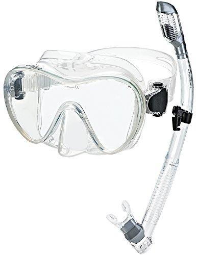 シュノーケリング マリンスポーツ PAQFMSC-CL 【送料無料】Phantom Scuba Diving Snorkeling Freediving Mask Snorkel Set, Clearシュノーケリング マリンスポーツ PAQFMSC-CL