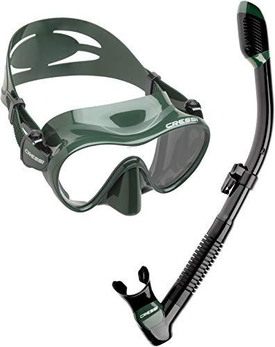 シュノーケリング マリンスポーツ CRS-FMSS-GRN-PP 【送料無料】Cressi Scuba Diving Snorkeling Freediving Mask Snorkel Set, Green Camoシュノーケリング マリンスポーツ CRS-FMSS-GRN-PP