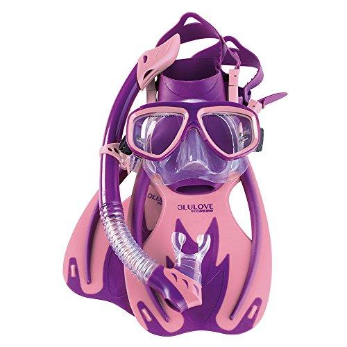 シュノーケリング マリンスポーツ USK060304P Cressi Junior Rocks Mask Fin Snorkel Set, Purple Pink, Large/X-Largeシュノーケリング マリンスポーツ USK060304P