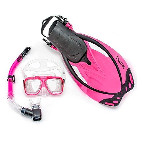 シュノーケリング マリンスポーツ MSF4641 Innovative Scuba Concepts MSF4641 REEF, Adult Snorkel Set, Mask, Fins, Snorkel and Bagシュノーケリング マリンスポーツ MSF4641