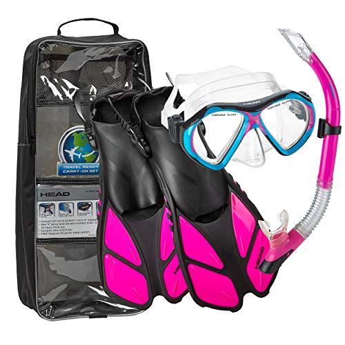 シュノーケリング マリンスポーツ HEAD Mares Mask Fin Dry Snorkel Set, Pink - Smallシュノーケリング マリンスポーツ