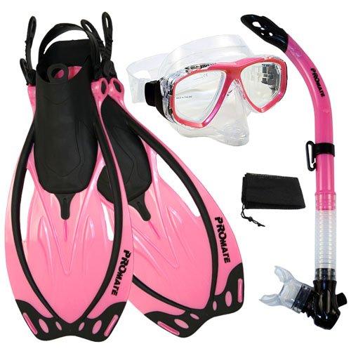 シュノーケリング マリンスポーツ PROMATE Snorkeling Semi-Dry Snorkel Purge Pink Mask Fins Scuba Dive Gear Set, Pink, ML/XLシュノーケリング マリンスポーツ, 卸問屋 ザフールセールショップ:0de8679a --- onlinesoft.jp