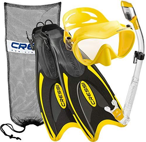 シュノーケリング マリンスポーツ 【送料無料】Cressi Palau Long Frameless Mask Fin Snorkel Set YL MLシュノーケリング マリンスポーツ