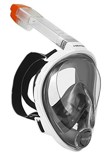 シュノーケリング マリンスポーツ 496325-WH BKS/M HEAD Sea Vu Dry Full Face Snorkeling Mask, Small/Medium, Whiteシュノーケリング マリンスポーツ 496325-WH BKS/M