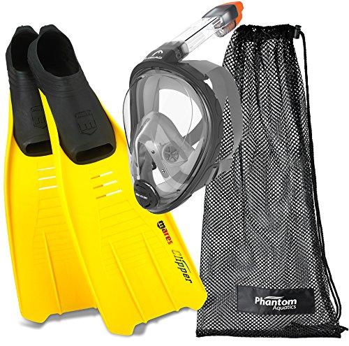 シュノーケリング マリンスポーツ Head Sea View Dry Full Face Snorkeling Mask Fin Snorkel Set (Made In Italy)シュノーケリング マリンスポーツ