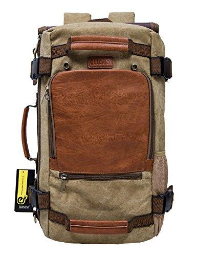 ミリタリーバックパック タクティカルバックパック サバイバルゲーム サバゲー アメリカ ECOSUSI Vintage Canvas Backpack Travel Duffel Bag Rucksack Hiking Bag Casual Tacticaミリタリーバックパック タクティカルバックパック サバイバルゲーム サバゲー アメリカ