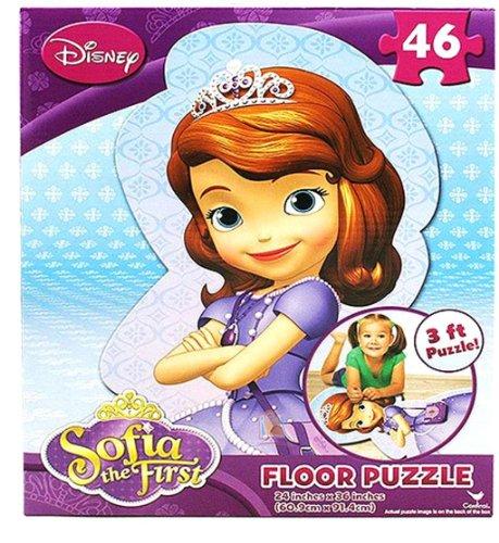ちいさなプリンセス ソフィア ディズニージュニア 【送料無料】Disney Princess Sofia the First 46 Piece Shaped Floor Puzzleちいさなプリンセス ソフィア ディズニージュニア