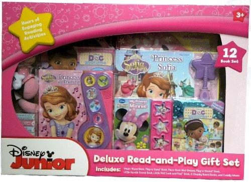 ちいさなプリンセス ソフィア ディズニージュニア Disney Junior Deluxe Read-and-Play Gift Set - 12-Book Set with Princess Sofia, Doc McStuffins and Minnie Mouseちいさなプリンセス ソフィア ディズニージュニア
