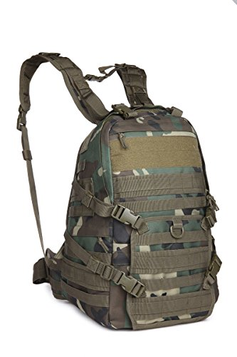 ミリタリーバックパック タクティカルバックパック サバイバルゲーム サバゲー アメリカ Outdoor Tactical Backpack Military Sport Camping Hiking Trekking Bag (WOODLAND 08484ミリタリーバックパック タクティカルバックパック サバイバルゲーム サバゲー アメリカ