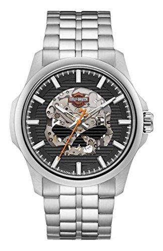 ブローバ 腕時計 メンズ 76A158 【送料無料】Harley-Davidson Men's Willie G Skull Self-Winding Stainless Steel Watch 76A158ブローバ 腕時計 メンズ 76A158