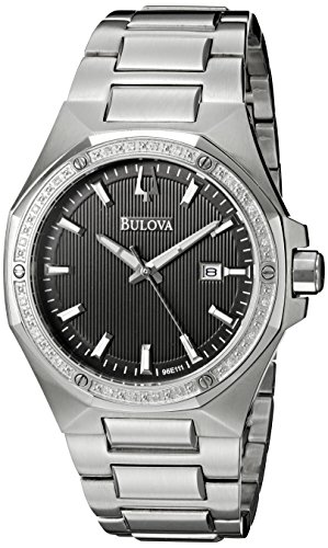 ブローバ 腕時計 メンズ 96E111 【送料無料】Bulova Men's 96E111 Diamond Analog Display Japanese Quartz Silver Watchブローバ 腕時計 メンズ 96E111