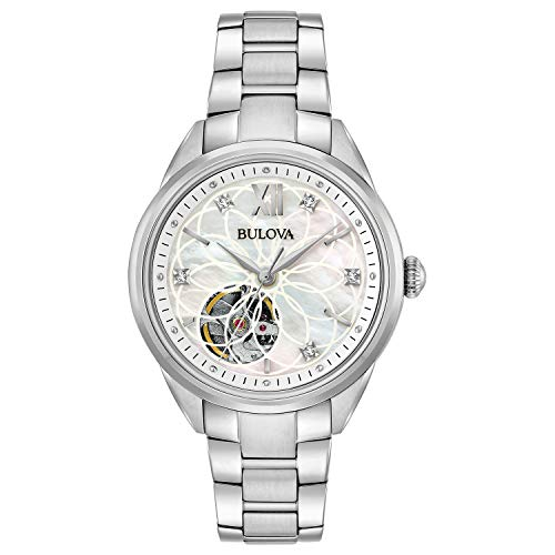 ブローバ 腕時計 レディース 96P181 Bulova Women's Automatic-self-Wind Watch with Stainless-Steel Strap, Silver, 7 (Model: 96P181)ブローバ 腕時計 レディース 96P181