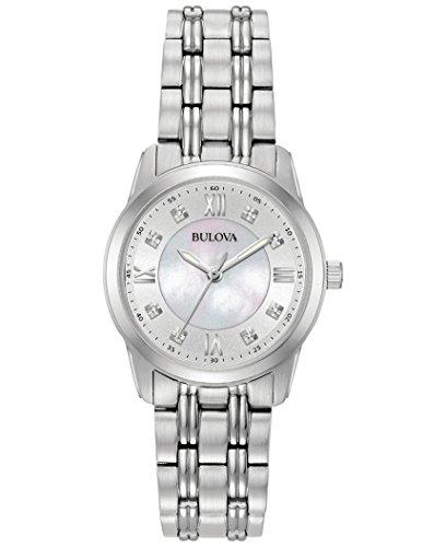 ブローバ 腕時計 レディース 【送料無料】Bulova Ladies Diamond Collection Watch with a Mother of Pearl Dialブローバ 腕時計 レディース