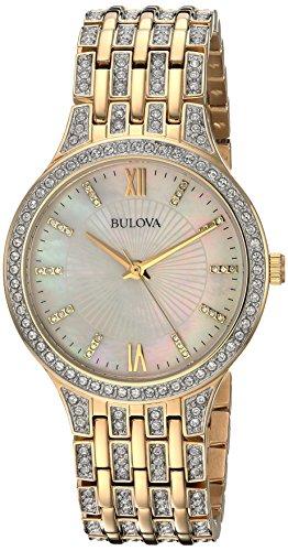 ブローバ 腕時計 レディース 98L234 【送料無料】Bulova Women's 98L234 Swarovski Crystal Gold Tone Bracelet Watchブローバ 腕時計 レディース 98L234