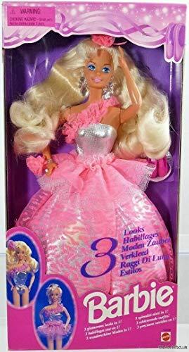 バービー バービー人形 日本未発売 12339 【送料無料】Mattel Barbie 3 Looks 1995 #12339 Dollバービー バービー人形 日本未発売 12339