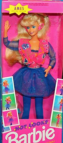 バービー バービー人形 【送料無料】Ames 1992 Hot Looks Blonde Barbie Dollバービー バービー人形