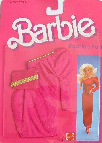 バービー バービー人形 着せ替え 衣装 ドレス BARBIE FASHION FUN Fashions w Red & Gold GOWN & PURSE (1984 Mattel Hawthorne)バービー バービー人形 着せ替え 衣装 ドレス