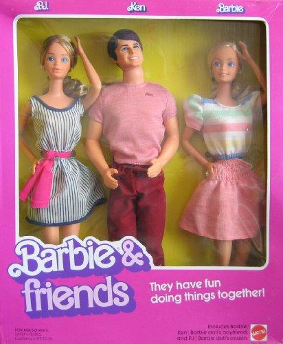 バービー バービー人形 ケン Ken 4431 Barbie Vintage Friends Doll Set w P.J., Ken Dolls (1982 Mattel Hawthorne)バービー バービー人形 ケン Ken 4431