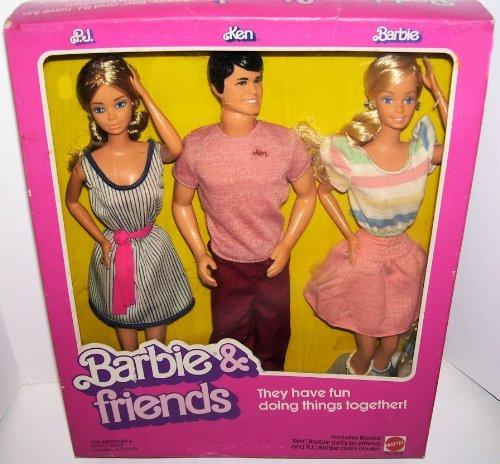 バービー バービー人形 ケン Ken 4431 1982 Vintage Barbie & Friends PJ Ken Barbie 3 Doll Gift Setバービー バービー人形 ケン Ken 4431