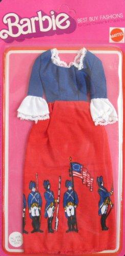 バービー バービー人形 着せ替え 衣装 ドレス 9158 VINTAGE Barbie Best Buy Fashions w Revolutionary War Soldiers & Flag (1975 Mattel Hawthorne)バービー バービー人形 着せ替え 衣装 ドレス 9158