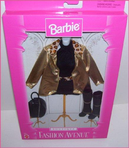 バービー バービー人形 着せ替え 衣装 ドレス 【送料無料】1997 Fashion Avenue Boutique Barbie Doll Gold Jacket & Cheetah Print Clothing Setバービー バービー人形 着せ替え 衣装 ドレス