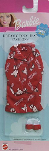 バービー バービー人形 着せ替え 衣装 ドレス 68089-92 Barbie Dreamy Touches Fashions - Coca Cola PJs & More (1999 Arcotoys, Mattel)バービー バービー人形 着せ替え 衣装 ドレス 68089-92