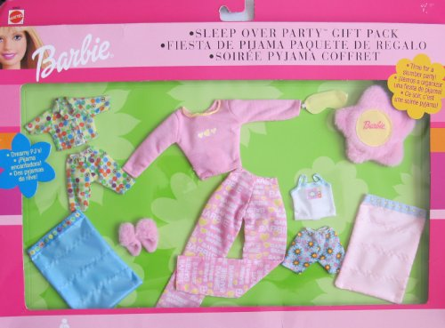 バービー バービー人形 着せ替え 衣装 ドレス 68802 Barbie Fashions Sleep Over Party Gift Pack - Time For a Slumber Party w PJs & More For Kelly, Tommy & Barbie Dolls (2001)バービー バービー人形 着せ替え 衣装 ドレス 68802