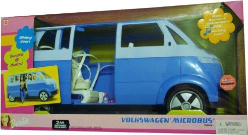 バービー バービー人形 日本未発売 プレイセット アクセサリ Barbie Volkswagen Microbus VW Vehicle Van with Working Horn & Sliding Door (Blue) - Seats 6 Barbie Dolls (2002)バービー バービー人形 日本未発売 プレイセット アクセサリ