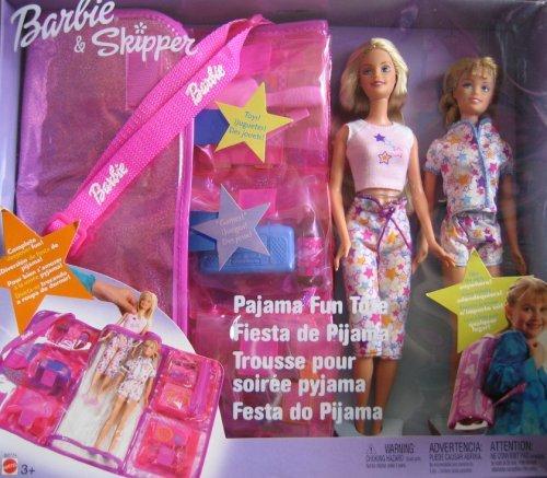 バービー バービー人形 チェルシー スキッパー ステイシー B2774 Barbie & Skipper Pajama Fun Tote Playset 2003バービー バービー人形 チェルシー スキッパー ステイシー B2774