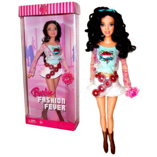 バービー バービー人形 日本未発売 Barbie Year 2006 Fashion Fever Series 12 Inch Tall Doll Set - Glamorous, Trendy and Popular RAQUELLE (K8416) in Blue Tops, Long Sleeve Cropped Shrug, and White Skirt with Sunglasses anバービー バービー人形 日本未発売