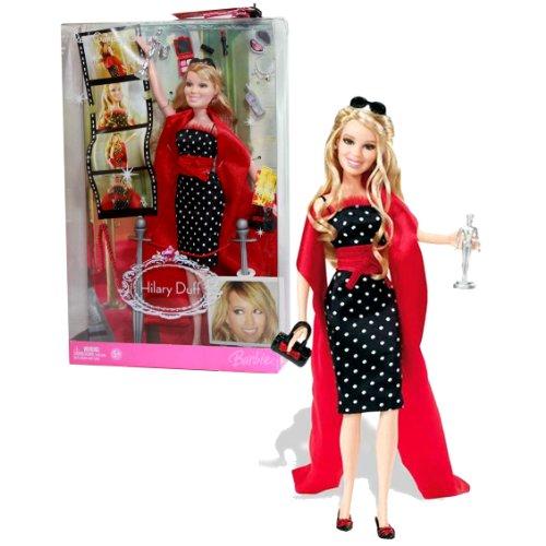 バービー バービー人形 日本未発売 【送料無料】Barbie Mattel Year 2006 Hilary Duff Series 12 Inch Doll - RED Carpet Glam with Hilary Duff Doll in Black Dress with Red Scarf, Purse, Award Statue Plus Lots of Other バービー バービー人形 日本未発売