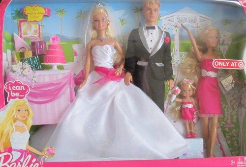 バービー バービー人形 ウェディング ブライダル 結婚式 BARBIE I Can Be .. WEDDING GIFT Set w BARBIE, KEN, SKIPPER & KELLY DOLLS (2009 TARGET EXCLUSIVE)バービー バービー人形 ウェディング ブライダル 結婚式