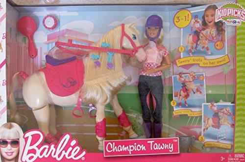 バービー バービー人形 日本未発売 プレイセット アクセサリ BARBIE Doll & CHAMPION TAWNY Trotting HORSE Play Set w BARBIE DOLL, HORSE, SADDLE & More! TOYS
