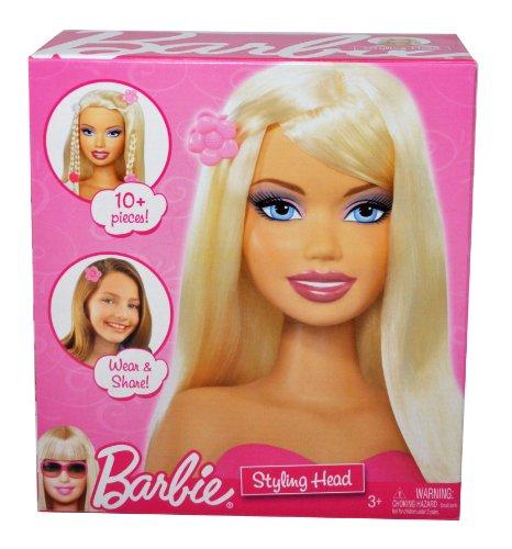 バービー バービー人形 スタイリングヘッド スタイルヘッド スタイルドールヘッド P7615 Barbie Year 2009 Fashionistas Series Styling Head with 10 Pieces of Share and Wear Hバービー バービー人形 スタイリングヘッド スタイルヘッド スタイルドールヘッド P7615