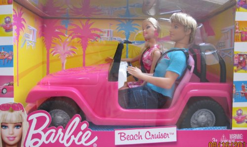 バービー バービー人形 ケン Ken V0834 Barbie BEACH CRUISER Jeep Vehicle Car w KEN Doll (2010)バービー バービー人形 ケン Ken V0834