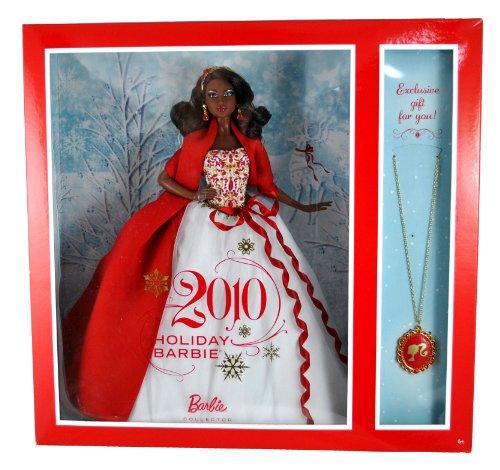 バービー バービー人形 日本未発売 ホリデーバービー V8650 Barbie Collector Holiday Series Exclusive 12 Inch Doll Gift Set - Holiday Barbie 2010 in White Gown with Red and Gold-Studded Bodice Plus バービー バービー人形 日本未発売 ホリデーバービー V8650