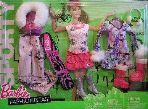 バービー バービー人形 着せ替え 衣装 ドレス R6819 【送料無料】Barbie Fashionistas SPORTY Fashions - WINTER Sports (2010)バービー バービー人形 着せ替え 衣装 ドレス R6819