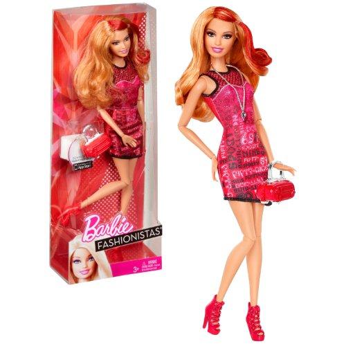 バービー バービー人形 ファッショニスタ 日本未発売 Mattel Year 2012 Barbie Fashionistas Series 12 Inch Doll Set - SUMMER (X7869) with Round Neck Shoulder Strap Dress, Necklace, High Heel Shoes and Pursバービー バービー人形 ファッショニスタ 日本未発売