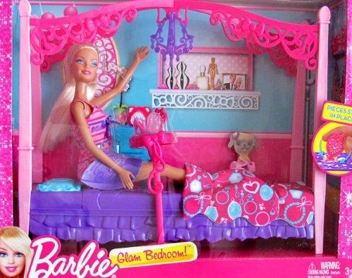 バービー バービー人形 日本未発売 プレイセット アクセサリ BARBIE GLAM BEDROOM Playset w DOLL, 4 Poster