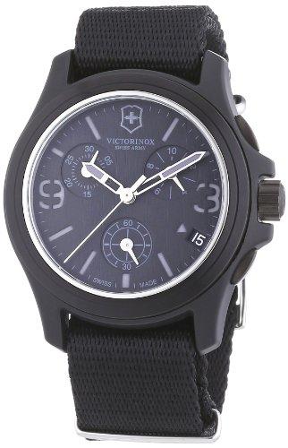 ビクトリノックス スイス 腕時計 メンズ 241534 【送料無料】Victorinox Swiss Army Men's 241534 Original Chronograph Black Nylon Strap Watchビクトリノックス スイス 腕時計 メンズ 241534