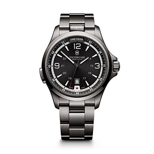 ビクトリノックス スイス 腕時計 メンズ 241665 【送料無料】Victorinox Men's 241665 Swiss Army Night Vision Dark Grey Dial Black Ice PVD Steel Watchビクトリノックス スイス 腕時計 メンズ 241665