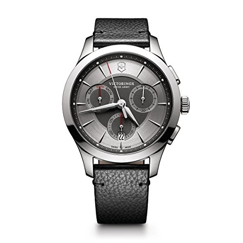 ビクトリノックス スイス 腕時計 メンズ 241748 【送料無料】Victorinox Men's Alliance Stainless Steel Swiss-Quartz Watch with Leather Strap, Black, 21 (Model: 241748)ビクトリノックス スイス 腕時計 メンズ 241748