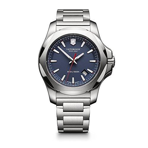 ビクトリノックス スイス 腕時計 メンズ 241724.1 【送料無料】Victorinox Swiss Army I.N.O.X. Stainless Steel Watch, 43mm, Blueビクトリノックス スイス 腕時計 メンズ 241724.1