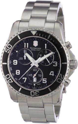 腕時計 ビクトリノックス スイス メンズ 241432 【送料無料】Victorinox Swiss Army Men's 241432 Maverick GS Stainless Steel Chronograph Watch腕時計 ビクトリノックス スイス メンズ 241432