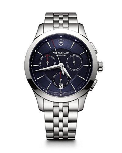 ビクトリノックス スイス 腕時計 メンズ 241746 【送料無料】Victorinox Swiss Army Alliance 44MM Blue Face Chronograph Day & Date Mens Stainless Steel Swiss Watch 241746ビクトリノックス スイス 腕時計 メンズ 241746