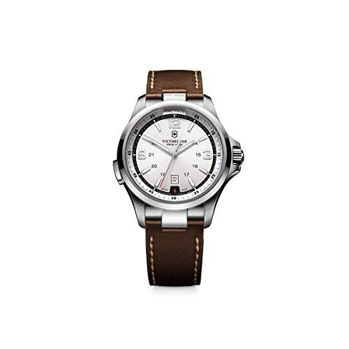 ビクトリノックス スイス 腕時計 メンズ 241570 Victorinox Men's 241570 Night Vision Stainless Steel Watch with Brown Bandビクトリノックス スイス 腕時計 メンズ 241570